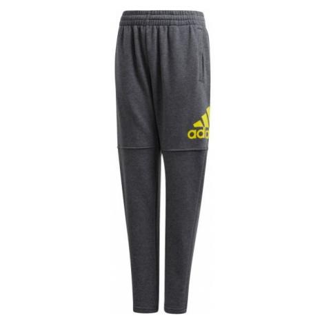 adidas LOGO PANT tmavě šedá - Chlapecké tepláky