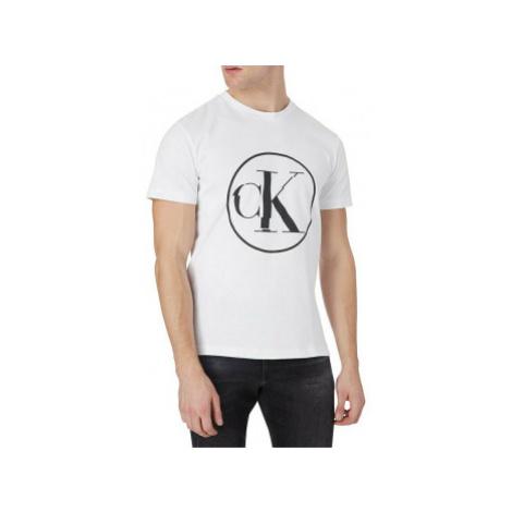 Calvin Klein Calvin Klein pánské bílé tričko NEW ROUND LOGO TEE