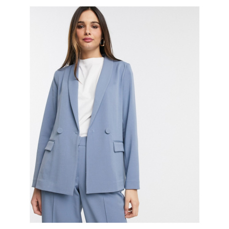Y.A.S tailored blazer co ord in blue-Stone