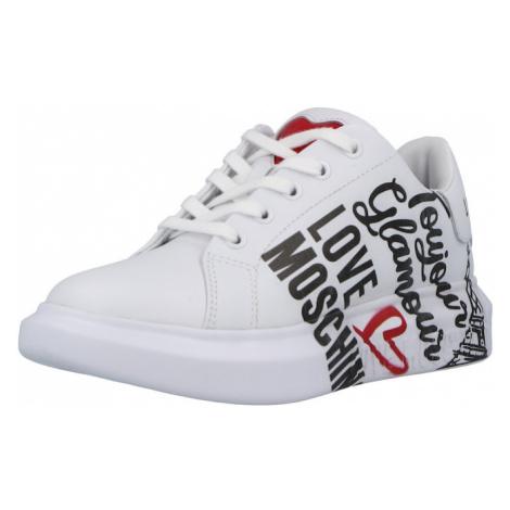 Love Moschino Tenisky bílá / černá / červená