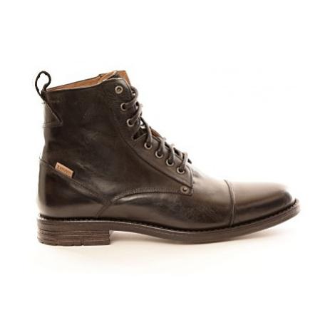 Kožené kotníkové boty Levi´s® EMERSON černé