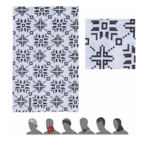 PATTERN FLAKES Multifunkční šátek 16200166 bílá UNI Sensor