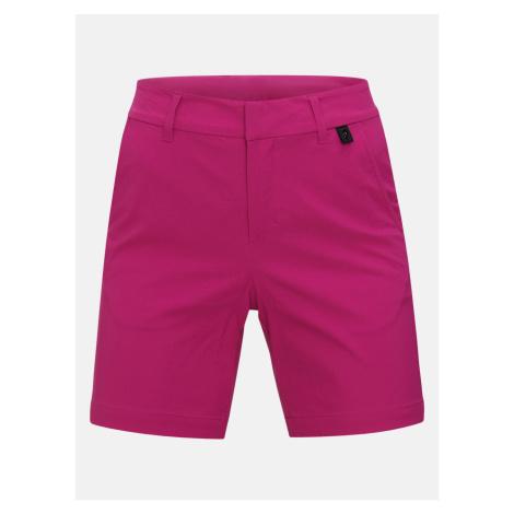 Šortky Peak Performance W Illusion Shorts - Růžová