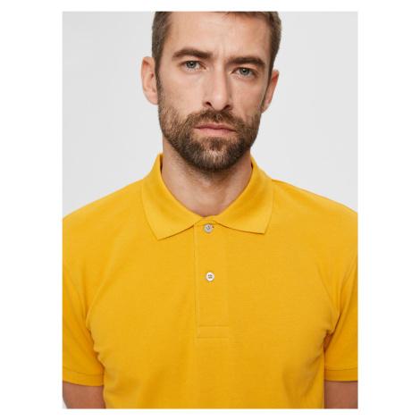Selected Homme žluté polo pánské tričko