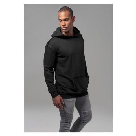 Mikina Urban Classics Oversized Open Edge Slub Terry Hoody - black
