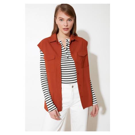 Trendyol Brown Sleeveless Shirt