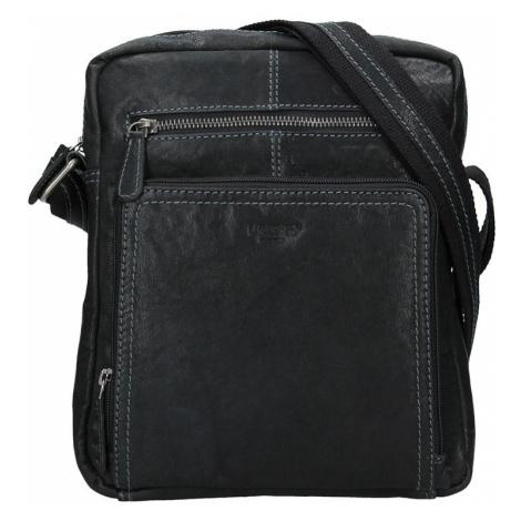 Pánská kožená taška přes rameno Lagen Lech - černá