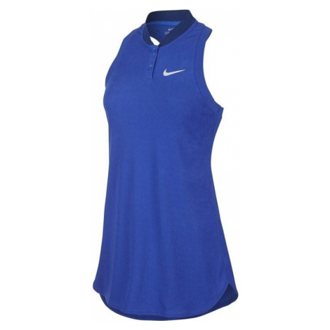 Tenisové šaty Nike Premier Advantage Modrá / Bílá