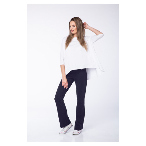 Look Made With Love Woman's Trousers 320 Grace Navy Blue