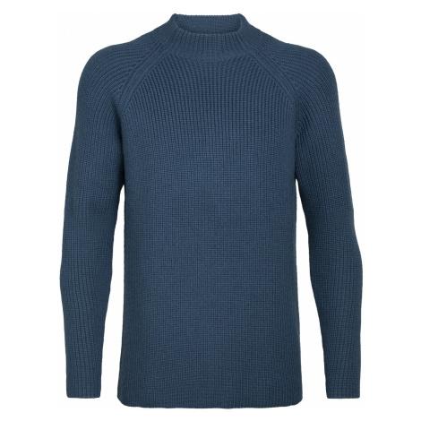 Pánské svetr ICEBREAKER Mens Hillock Funnel Neck Sweater, PRUSSIAN BLUE Icebreaker Merino