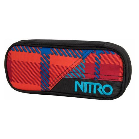 Nitro Pencil case Plaid red-blue