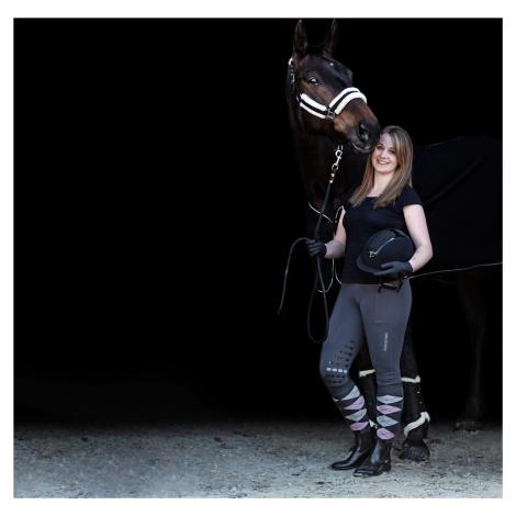 Legíny jezdecké Kate USG s gripem, dámské, grey