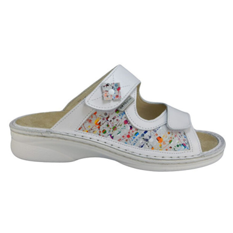 ORTO plus Bílé zdravotní pantofle s vyjímatelnou stélkou