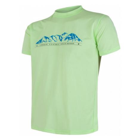 Pánské tričko SENSOR Coolmax Fresh PT Mountains sv. zelená