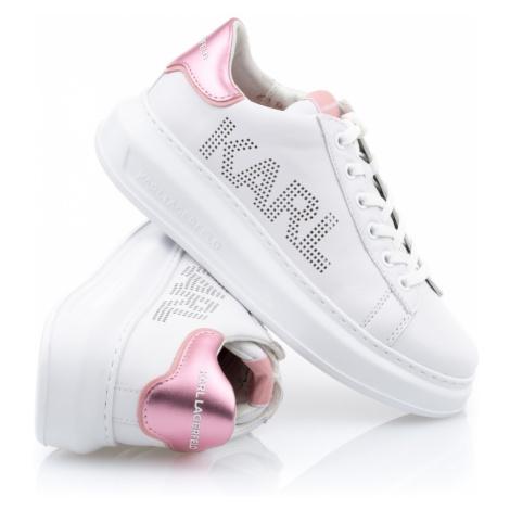 Tenisky Karl Lagerfeld Kapri Karl Punkt Logo Lo - Růžová