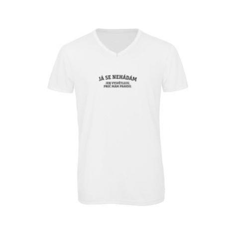 Pánské triko s výstřihem do V Já se nehádám
