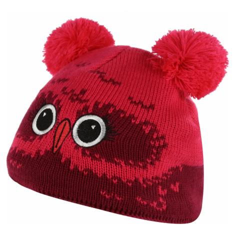 Dětská zimní čepice Regatta ANIMALLY III červená