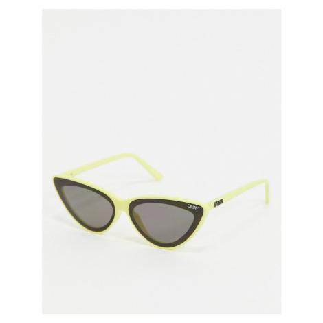 Quay Flex cat eye sunglasses in yellow exclusive to ASOS Quay Australia