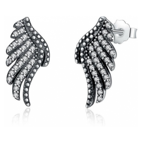 Linda's Jewelry Stříbrné náušnice pecky Angel Wings IN054