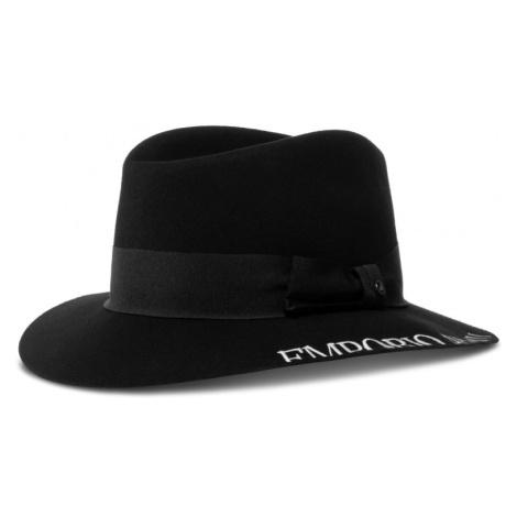 Černý vlněný klobouk - EMPORIO ARMANI