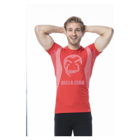 Pánské funkční tričko s krátkým rukávem IRON-IC - Bella Ciao - červená Intimidea