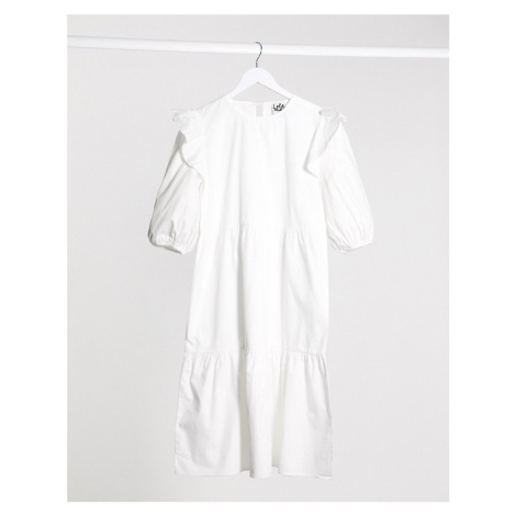 Lola May midi smock dress-White