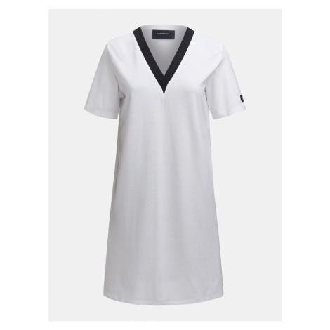 Šaty Peak Performance W Tech Vn Dress - Bílá