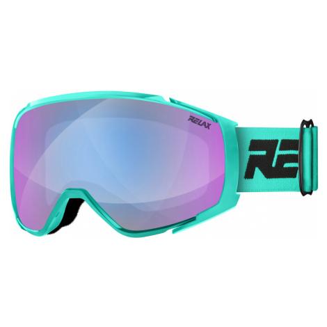 RELAX SKYLINE Lyžařské brýle HTG69B černá/tyrkysová L