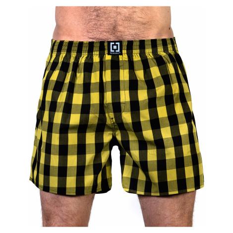 HORSEFEATHERS pánské žluto-černé kostičkované trenýrky Sin Boxer Shorts-Citronelle