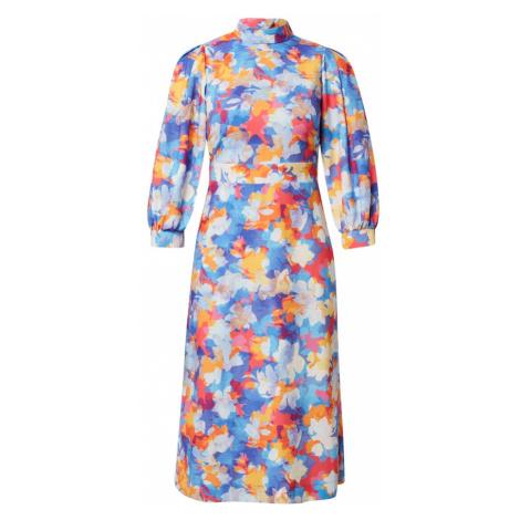 Closet London Šaty modrá / světlemodrá / oranžová / pink / bílá