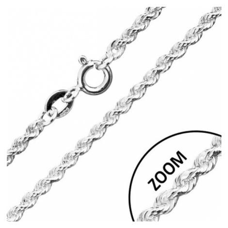 Řetízek ze stříbra 925, spirálovitě spojovaná očka, šířka 1,8 mm, délka 500 mm Šperky eshop