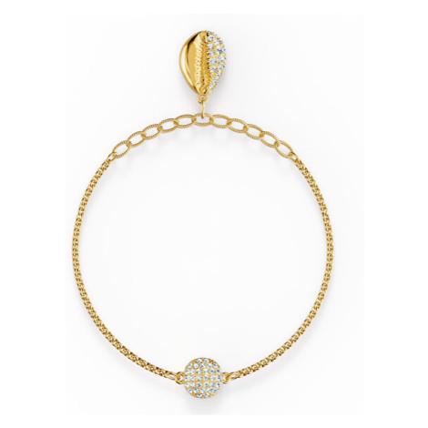 Swarovski Hravý pozlacený náramek s mušlí Shell 5538127, 5521347cm