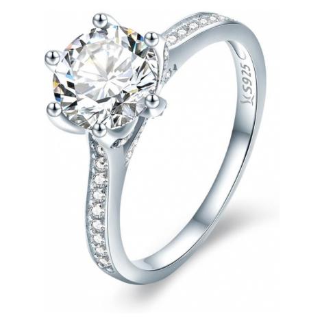 Linda's Jewelry Stříbrný prsten Zirkonová Princezna Ag 925/1000 IPR062 Velikost: 54