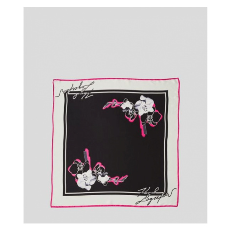 Šátek Karl Lagerfeld K/Signature Orchid B&W Scarf