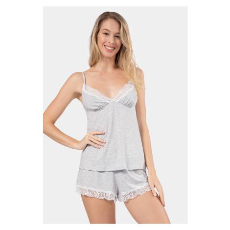 Letní pyžamo Frost šedá Dorina