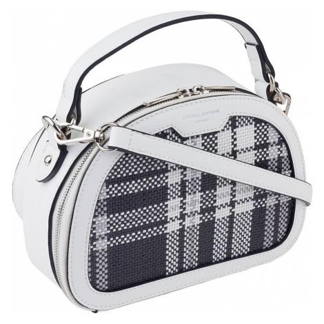 David jones® bílá dámská kabelka s károvaným vzorem