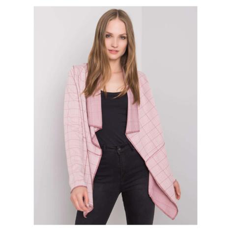 SUBLEVEL Světle růžový dámský károvaný plášť FPrice