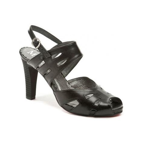 Abil 308 černé letní dámské sandály Černá