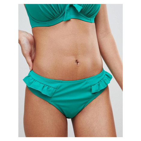 Pour Moi Frill Bikini Bottom-Green