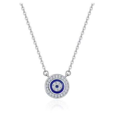 Linda's Jewelry Stříbrný náhrdelník Modré Oko Moudrosti Ag 925/1000 INH073