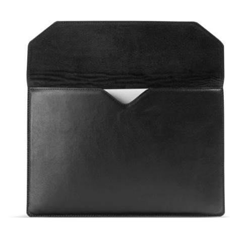 Vasky Meky Black - kožený obal na MacBook, černý, česká výroba