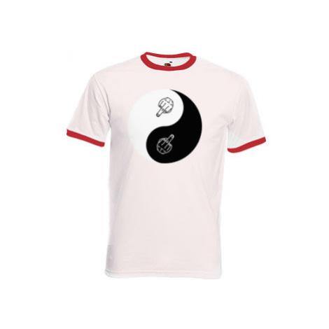 Pánské tričko s kontrastními lemy jin-jang