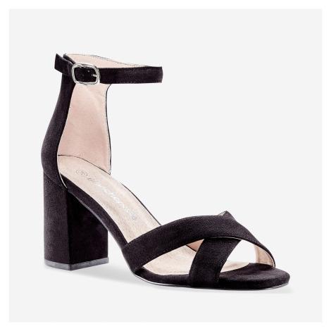 Blancheporte Sandály s překříženými pásky černá