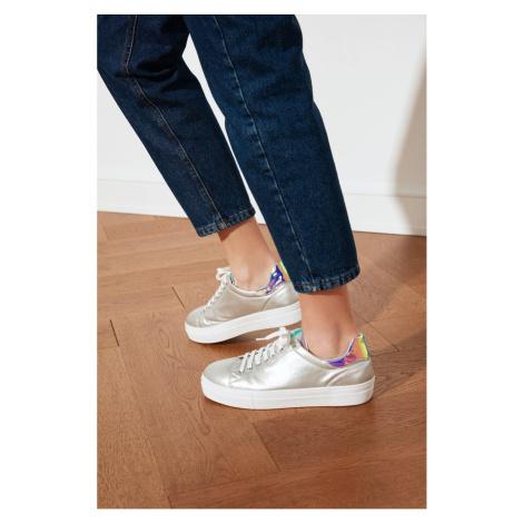 Trendyol Silver Hologram Detailed Women's Sneaker