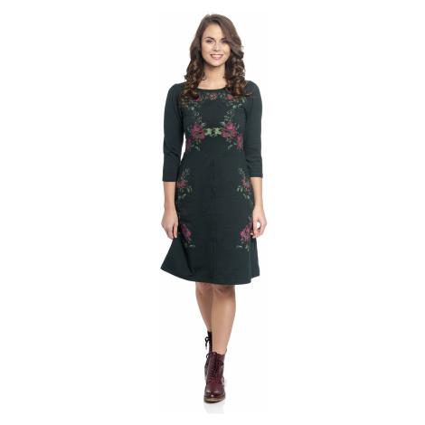 Elegantní černé šaty s 3/4 rukávem Vive Maria Folk Romance