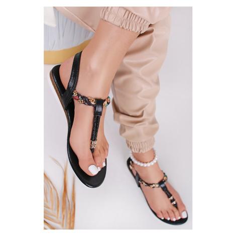 Černé nízké sandály Ofelia Laura Biagiotti