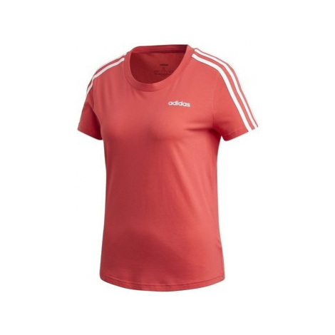 Adidas Essentials 3S Slim Tee Červená