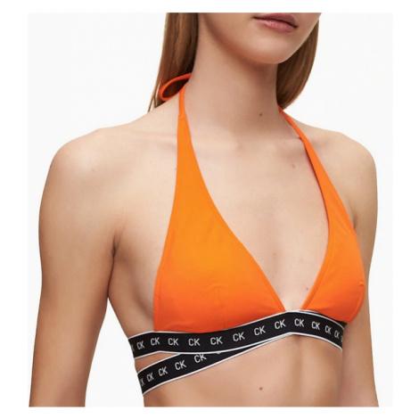 Dámská plavková podprsenka Calvin Klein KW00904 oranžová | oranžová