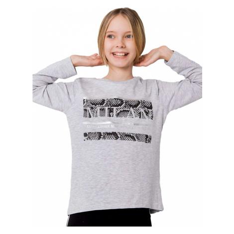 šedé dívčí tričko s potiskem