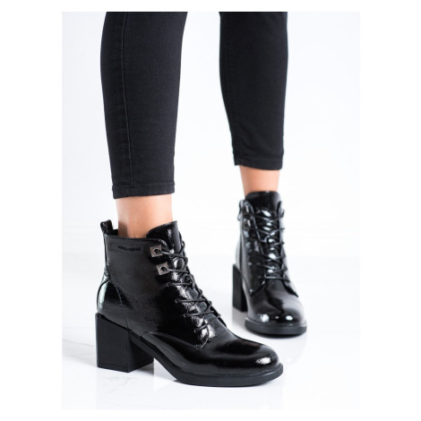 FILIPPO LACE-UP ANKLE BOOTS ON THE POST